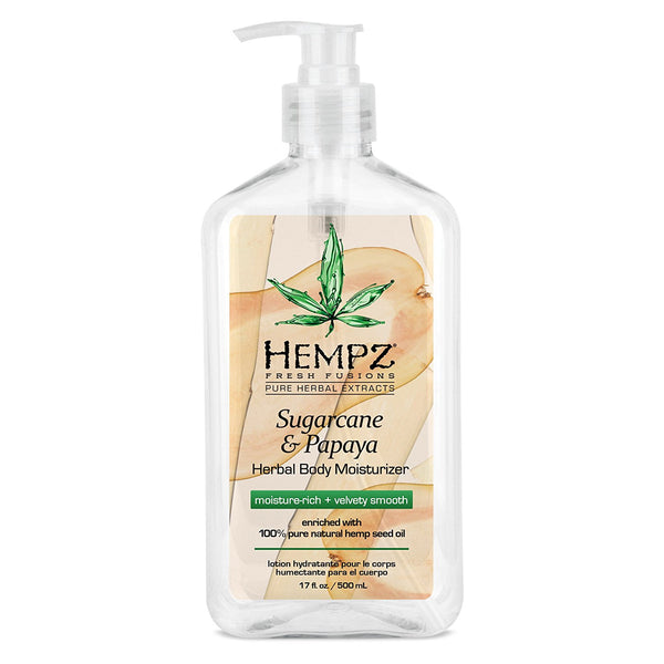 17oz Hempz Pure Herbal Fresh Fusions - SUGARCANE & PAPAYA