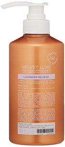VOESH Velvet Luxe Vegan Body & Hand Creme Lotion - Lavender Relieve 17 oz