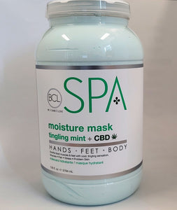 BCL SPA Pedicure Organic Moisture Mask 128oz - tingling mint + CBD