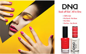 Set of DND Duo Soak off gel & Nail Polish 235 Colors + FREE  New version OPI LED Lamp