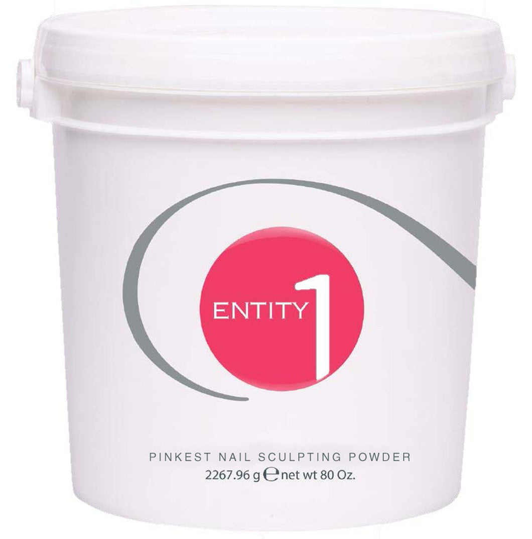 Entity Beauty - Nail Acrylic Sculpting Powder *PINKEST PINK* - Size 5 Lbs Bucket