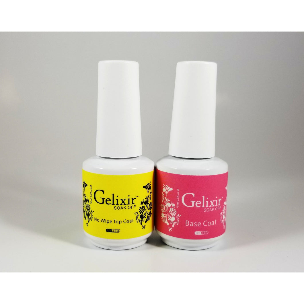 GELIXIR - Soak Off Gel - Base No-wipe Top Coat - .5 Oz / 15 mL