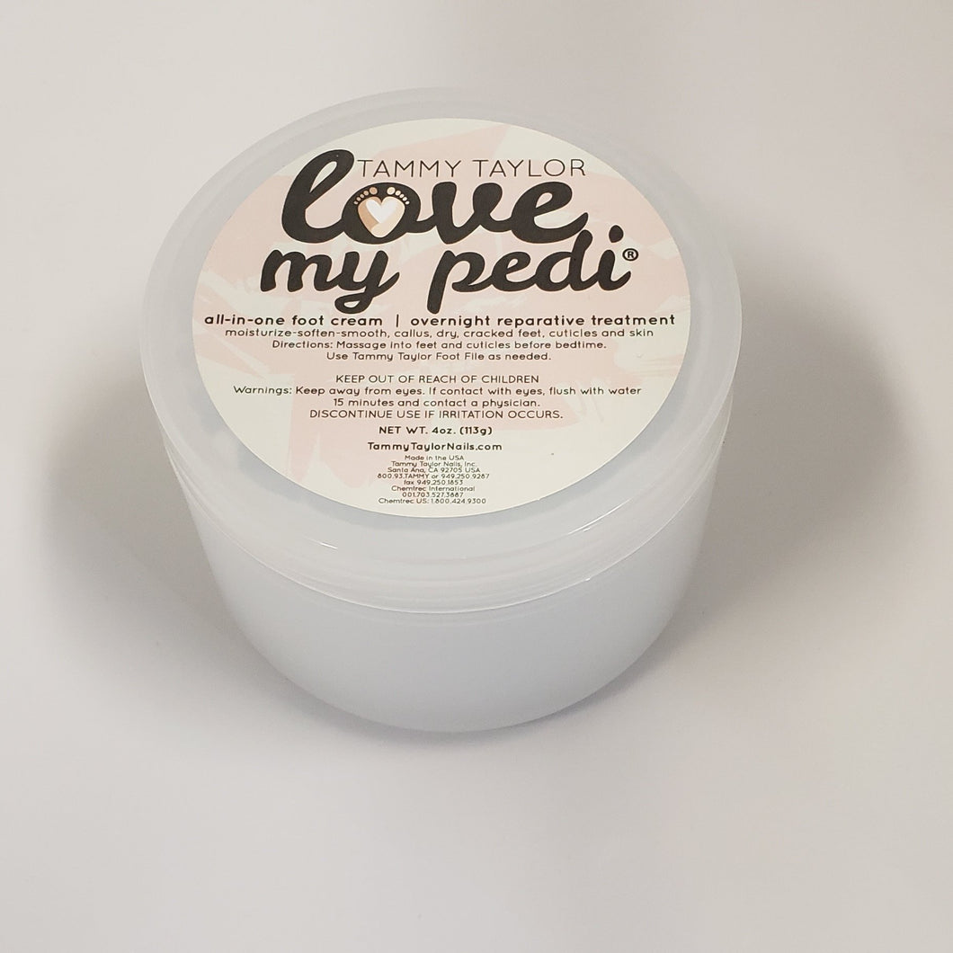 New Tammy Taylor - Love My Pedi - All in one foot cream 4oz