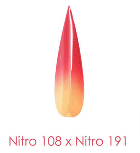 Nitro Dipping Powder - Set of 2 Ombre Colors 2oz/Jar - IRON MERCY (NT108 X 191)