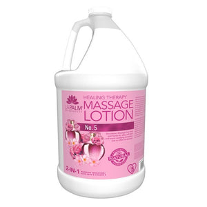 LAPALM Product - 2 in 1 Healing Therapy Massage Lotion  No. 5 - 1 Gallon