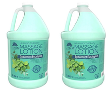 La Palm Products - 2 in 1 Healing Massage Lotion - SPEARMINT EUCALYPTUS  - Gallon size