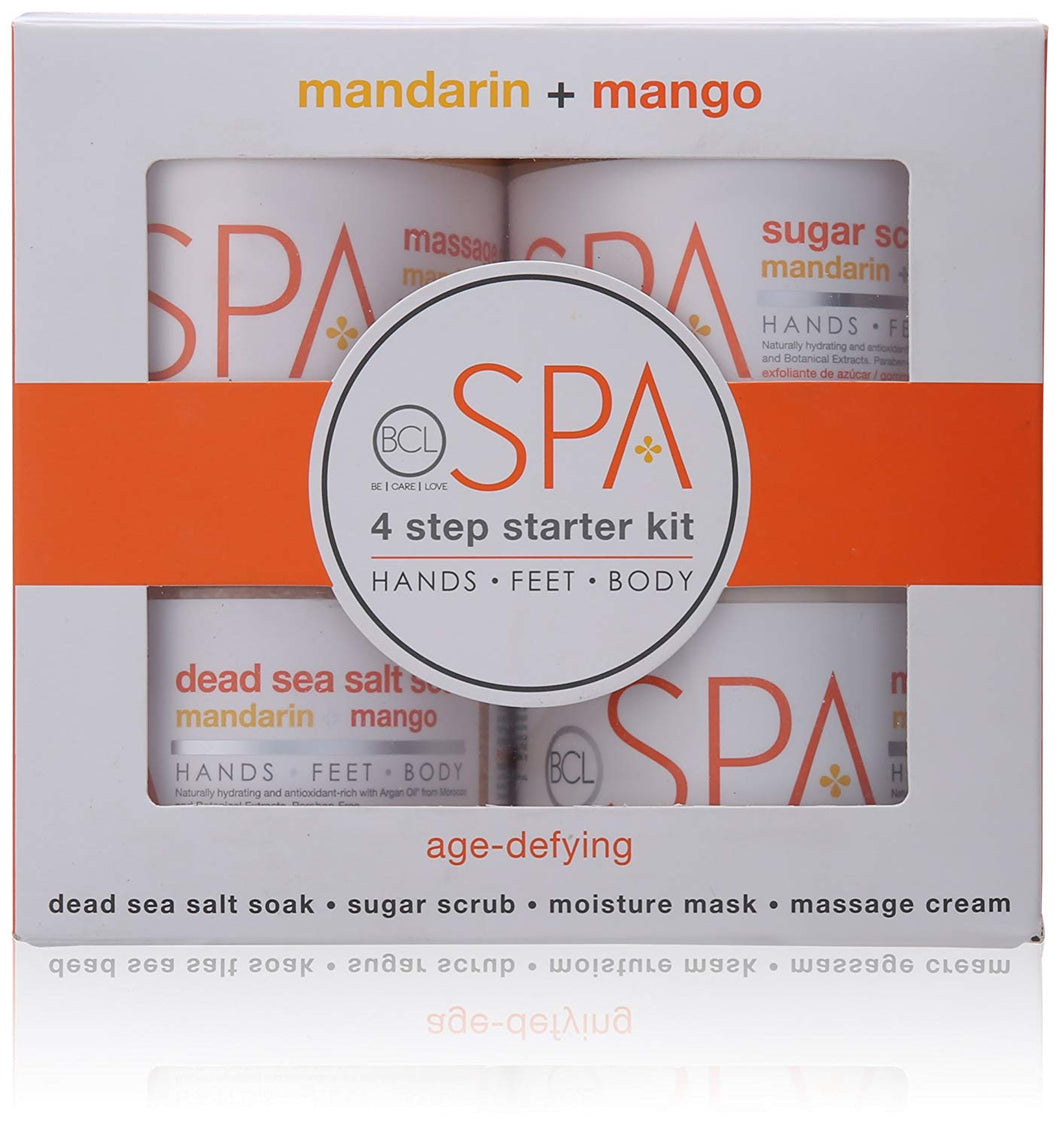 BCL Spa 4 steps Pedicure - Mandarin and Mango Starter Kit