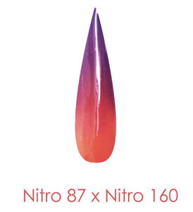 Nitro Dipping Powder - Set of 2 Ombre Colors 2oz/Jar - ONE OF A KIND (NT087 X 160)