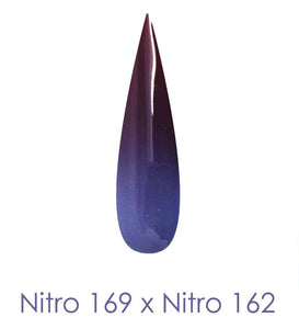 Nitro Dipping Powder - Set of 2 Ombre Colors 2oz/Jar - STORMS IN THE STREAMS (NT169 X 162)