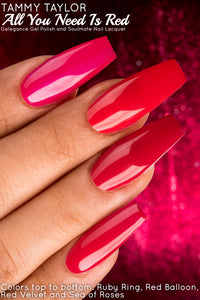 "Tammy Taylor Nails - ""ALL YOU NEED IS RED"" COLLECTION GEL POLISH COLORS"