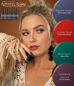 Tammy Taylor - AUTUMN GYPSY Collection! Gelegance Soak Off Gel Polish 4 colors