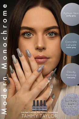 Tammy Taylor - Soak Off Gel Polish NEW! *Modern Monochrome Grey* Collection!