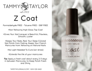 Tammy Taylor Top Coat - Z-Coat (Non-Yellowing - High Gloss) - 0.5oz/15ml