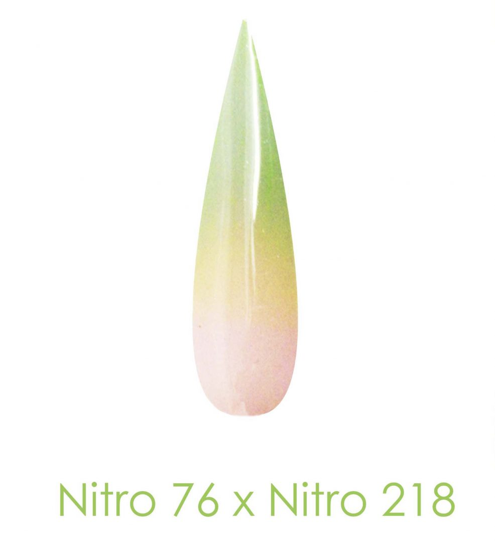 Nitro Dipping Powder - Set of 2 Ombre Colors 2oz/Jar - VOLTAIC EDEN (NT076 X 218)