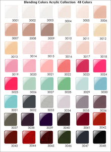 Glam and Glits - Ombre' & Marbling Nail Powder Color Blend COMPLETE Collection 48 Colors - 2oz/Jar (FREE SHIPPING)