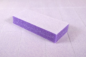 500pc Nail Buffers - Dixon Slim Purple Buffer White Grit 100/180