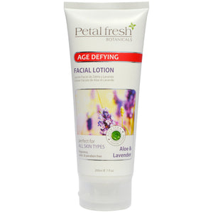 Petal Fresh Botanicals - Age Defying FACIAL LOTION - ALOE & LAVENDER - 7oz