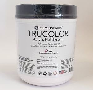 PREMIUMNAILS Trucolor Manicure Nail Acrylic Opaque Cover Powder - iPINK - Choose your size