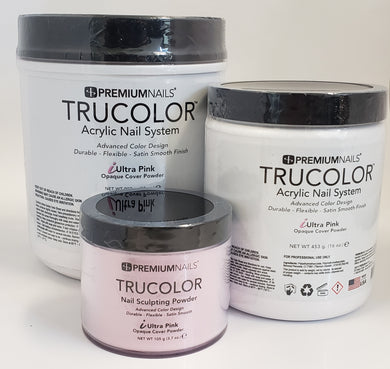 .PREMIUMNAILS Trucolor Acrylic Nail Opaque Cover Powder iULTRA PINK