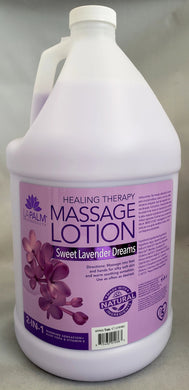 La Palm Products - 2 in 1 Healing Massage Lotion - SWEET LAVENDER DREAMS  - Gallon size