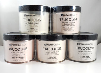 .PREMIUMNAILS TRUCOLOR SCULPTING  NAIL ACRYLIC POWDER NUDE SHADE - 3.7oz/105g