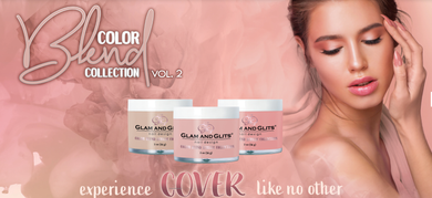 Glam & Glits Nail Design - Collection Vol. 2  COLOR BLEND OMBRE' & MARBLING NAIL ACRYLIC POWDER - 2oz/Jar