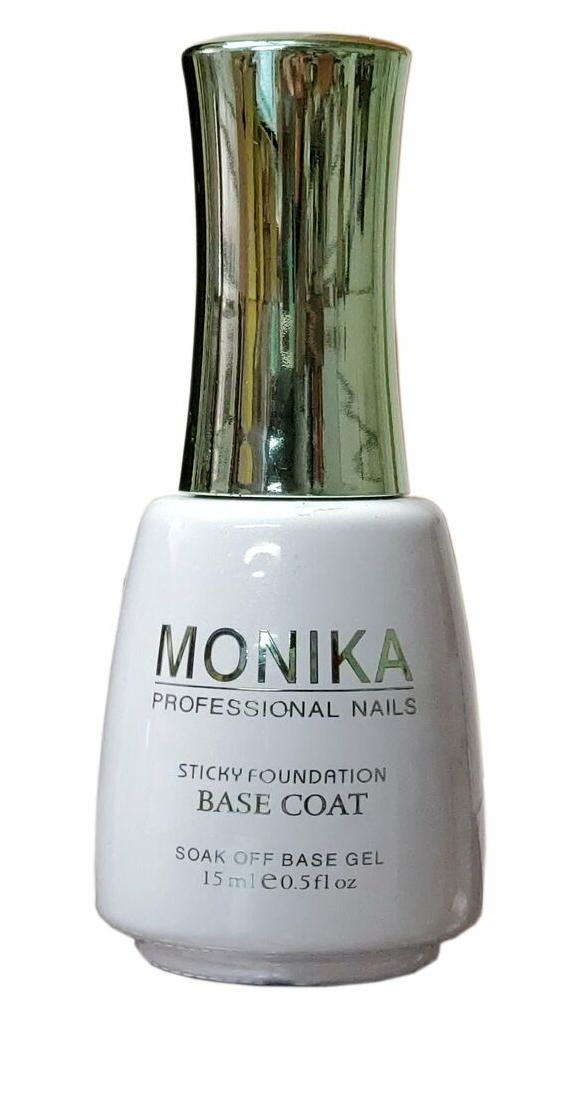 .MONIKA Professional - UV/LED Soak off Gel BASE COAT (Foundation)  -  0.5 fl.oz/15mL
