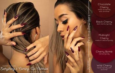 NEW! Everything's Coming Up Cherries! Prizma Acrylic-Gel Polish-Nail Lacquer Collection