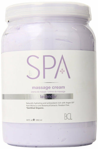 BCL Organic Spa Pedicure Massage Cream Half Gallon (64oz) - Lavender + Mint