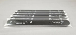 Flowery Disposable Nail Files - Cushion 180/400 Grit (DFCB4)