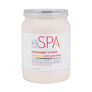 BCL Organic Spa Pedicure Massage Cream Half Gallon (64oz) - Energizing Pink Grapefruit