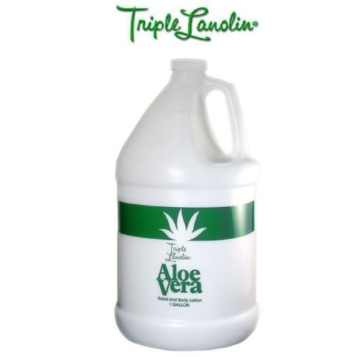 Triple Lanolin ALOE VERA Hand & Body lotion - For Professional Salon Refill size 1 Gallon