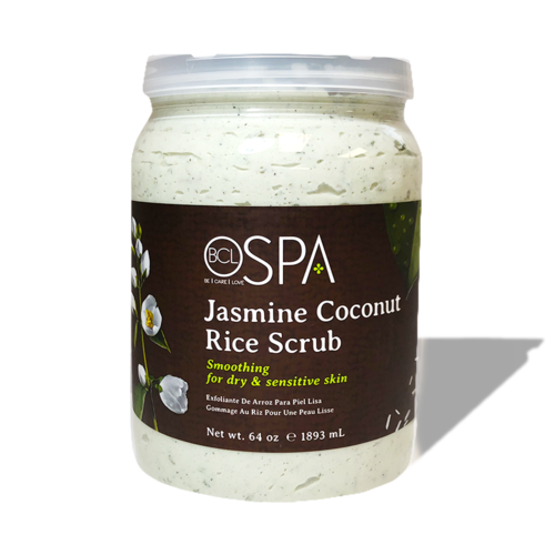 BCL Spa Pedicure Organic Sugar Scrub Half Gallon (64oz) - Jasmine Coconut