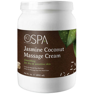 BCL Organic Spa Pedicure Massage Cream Half Gallon (64oz) - Jasmine Coconut
