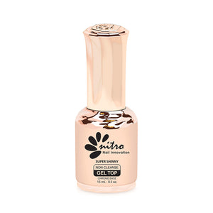 .Nitro Nails - Super Shinny Non-Cleanse Gel Top 0.5 fl. oz