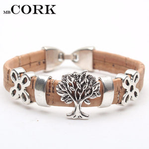 3asybuy bracelet vintage Portuguese Cork life of tree 17cm women cork bracelet vintage original lady handmade wood jewelry with natural material BR-107