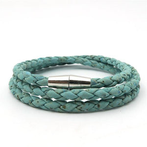 3asybuy bracelet women Sky Blue / China Simple Braided blue white cork bracelet women natural bracelet original handmade wood bracelet jewelry Brw-006