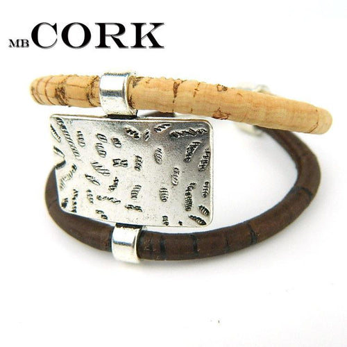 3asybuy Cork jewelry bracelets From Europe Portugal Pulseras Cork jewelry bracelets, soft natural wood color fashion bracelet, Portugal specialty 18cm BR-210
