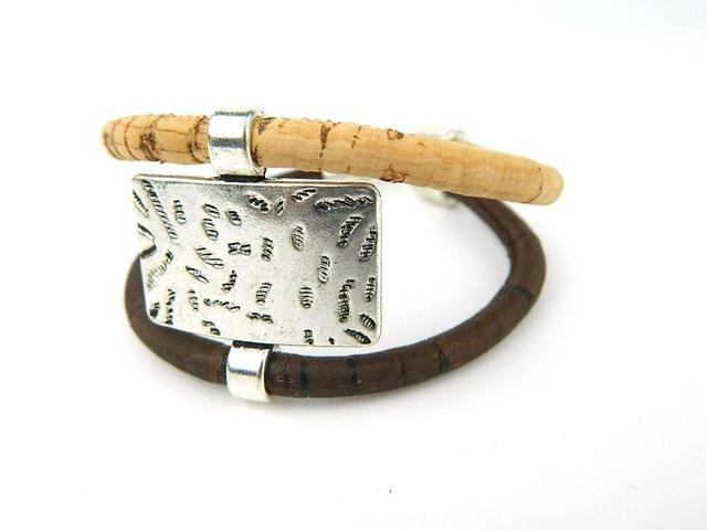 3asybuy Cork jewelry bracelets Natural with Brown / China From Europe Portugal Pulseras Cork jewelry bracelets, soft natural wood color fashion bracelet, Portugal specialty 18cm BR-210