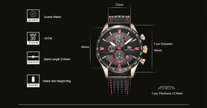 3asybuy Men's Watches 2018 New Men's Watches Fashion Sports quartz-watch stainless steel