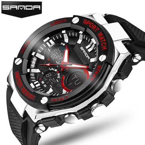 3asybuy Military Watch Luxury Brand Mens Sports Watches Dive 50m Digital LED Military Watch