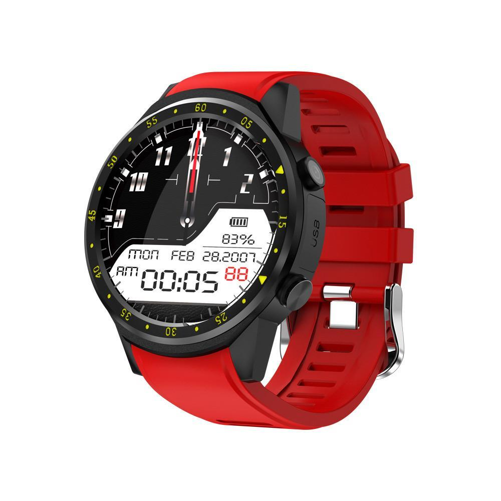 3asybuy Smartwatch Red F1 Touchscreen GPS Sport Smartwatch