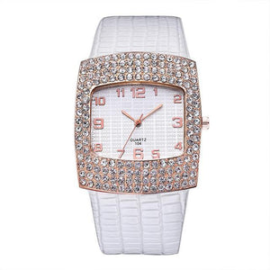 3asybuy Watch Women Luxury White Diamond Rhinestone Big Dial Best Brand Popular Watch Women Luxury