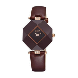 3asybuy Watches Women Coffee 100% Pure Ceramic Case! HOT WEIQIN Luxury Brand Top Leather Strap Fashion Watches Women
