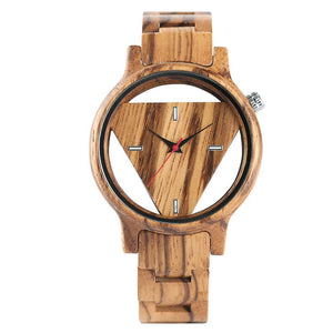 3asybuy Wood Watch Wood Watch Men Handmade Bamboo Wooden Creative Watches Analog Mens Casual Clock Gift