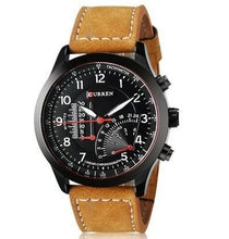 3asybuy Wrist Watch Black Men's Business  Leather Strap Cool Casual Wrist Watch