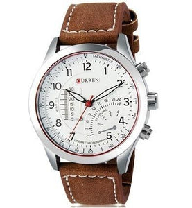 3asybuy Wrist Watch Men's Business  Leather Strap Cool Casual Wrist Watch