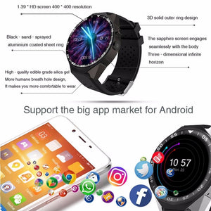 3asybuy Wristwatch Smartwatch ZGPAX Android 5.1 Smart Watch 1.39 Inch HD Touch Screen Wristwatch Smartwatch Supports 3G Wifi Camera