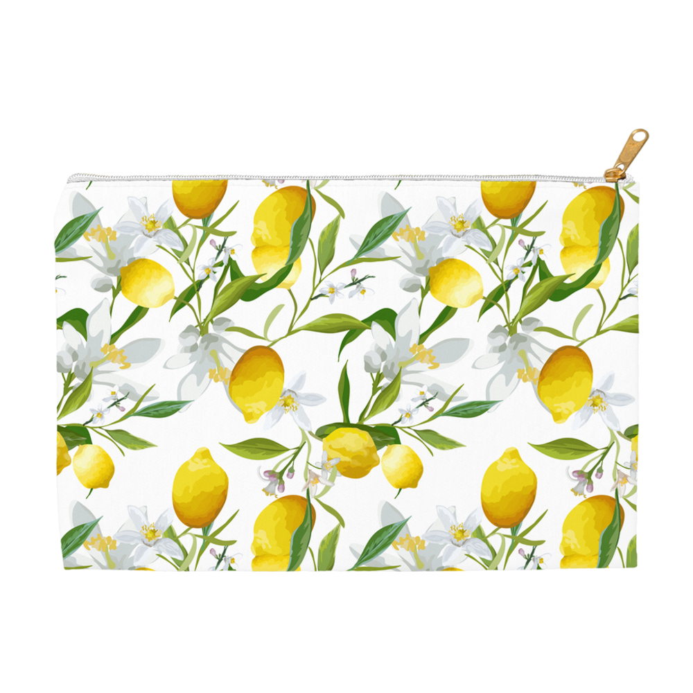 Accessory & Cosmetic Travel Pouches - Lemon Print