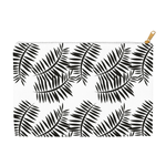 Accessory & Cosmetic Travel Pouches - Black & White Palm Print
